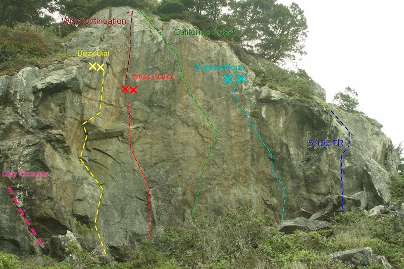 Rock Climbing Photo: Pacific Ocean Cliff Topo