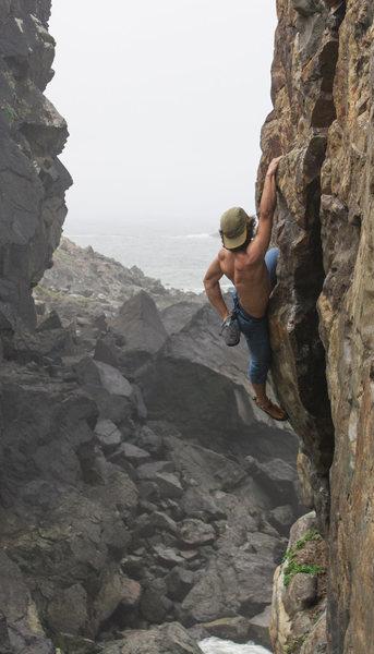 Rock Climbing Photo: Adam Weaver soloing Zig Zag