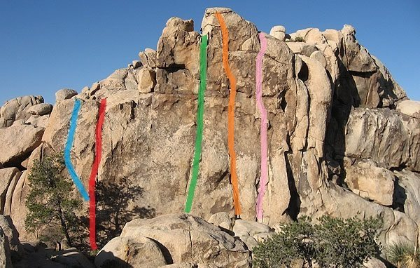 Rock Climbing Photo: Kodas Silence climbs up along the orange line.