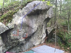Rock Climbing Photo: Another view of the line