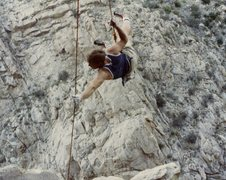 Rock Climbing Photo: Mark Motes toproping Cheap Trick in Citadel Canyon...