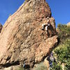 Stu getting seconds on TR after sending the route.
