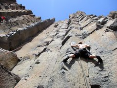 Rock Climbing Photo: John starting up Mix it Up.