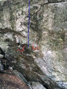 Rock Climbing Photo: The line. (I will replace this photo when I get a ...