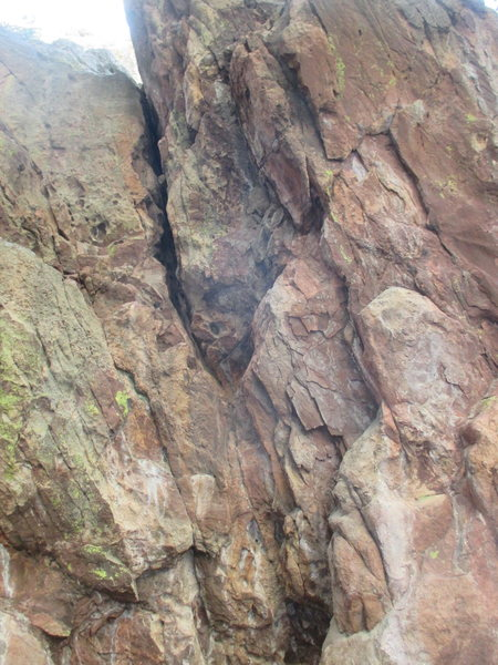 Rock Climbing Photo: It does work into an OW at some point... just befo...