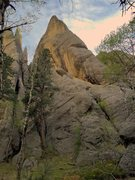 Rock Climbing Photo: Thunder road follows the arete all the way to the ...