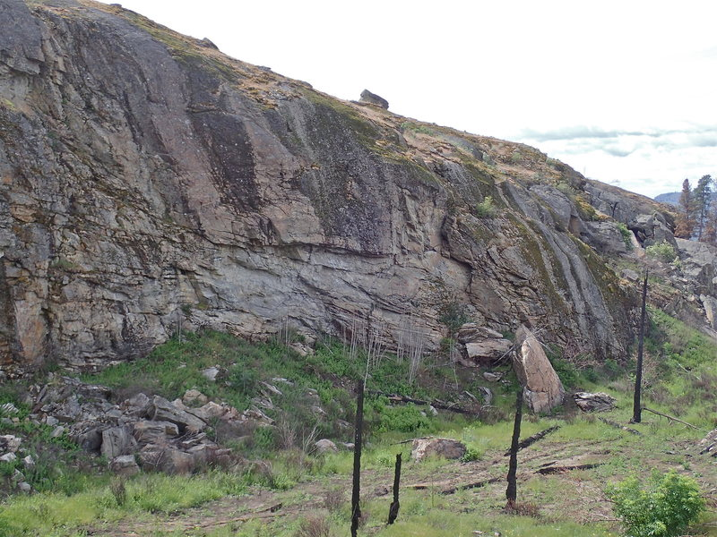Rock Climbing Photo: East Side from the north - after the 2015 fire.
