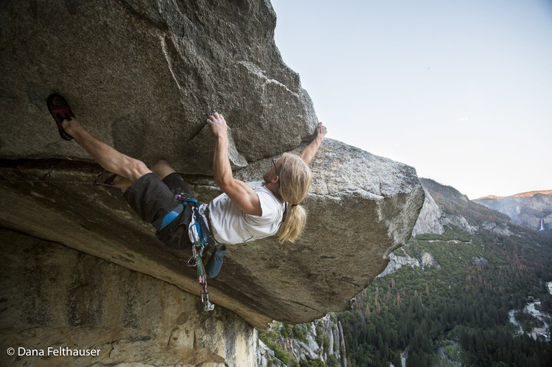 Rock Climbing Photo: Aaron Livingston reaching for the lip of Separate ...