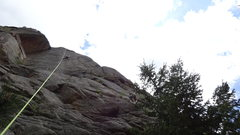 Rock Climbing Photo: Worst picture ever, but you get the idea.  The dud...