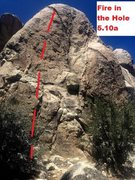 Rock Climbing Photo: Fire in the Hole 5.10a Sport