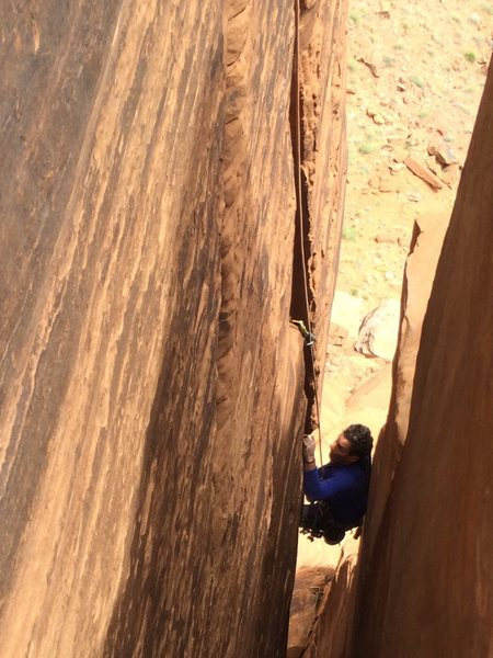 Lance Lemkau coming up the awesome last pitch. Reminiscent of Space Tower, but even nicer.