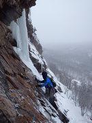 Rock Climbing Photo: Pitch two traverse