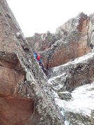 Rock Climbing Photo: The business on pitch 4