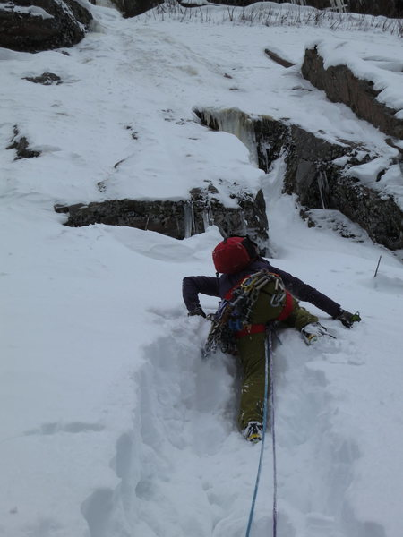 Fist winter ascent of the wall?  We climbed BOS with the direct start