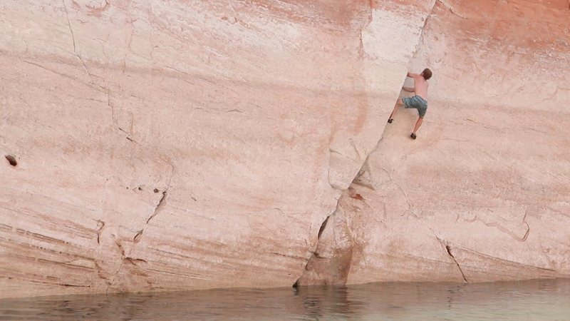Ben Crawdaddy fishin his way up to this second crux.. ring locks.
