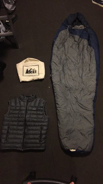 Rock Climbing Photo: picture of bag and vest