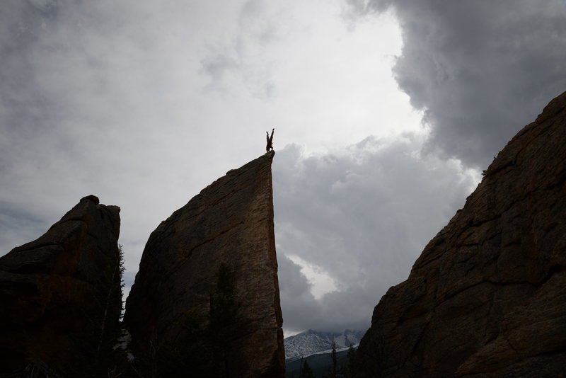 Rock Climbing Photo: A little summit handstand.