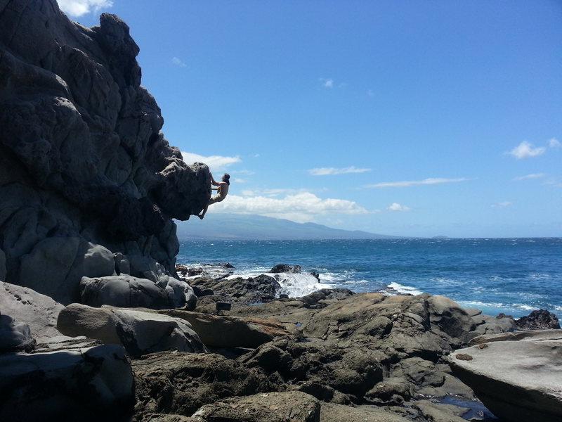 Rock Climbing Photo: Bulge left