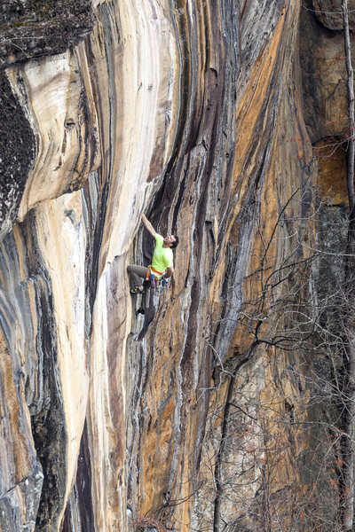 Rock Climbing Photo: The upper bit of climbing on Temporary Insanity (5...