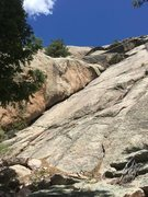 Rock Climbing Photo: We started in this dihedral, the proper first pitc...