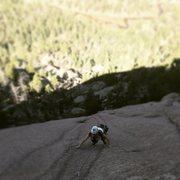 Rock Climbing Photo: Beautiful slab on P2.