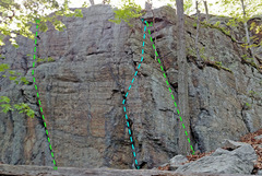 Rock Climbing Photo: Right End of Check Book ... W. The Twain Shall Mee...