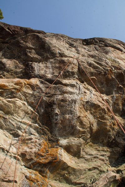 Rock Climbing Photo: Dreamt I Was a Dragon Fly follows the orange rope ...