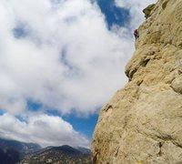 Rock Climbing Photo: Vista Mountain South Face second pitch