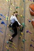 Rock Climbing Photo: Blindfolded gym climbing