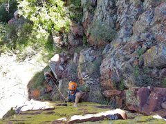 Rock Climbing Photo: Heading up Green Weenie looking for spots for pro