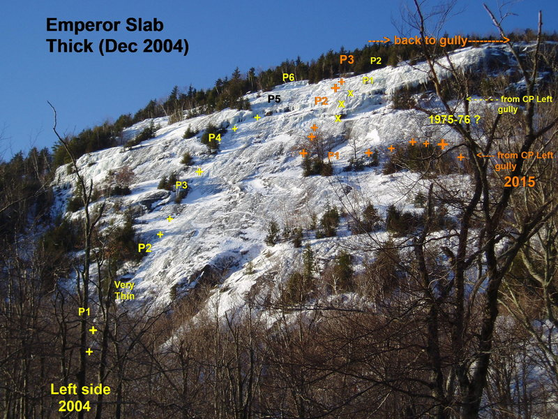 Rock Climbing Photo: Emperor Slab - Thick Conditions Late Dec 2004