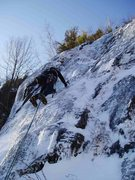 Rock Climbing Photo: Todd Morgan On P1