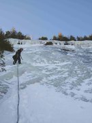 Rock Climbing Photo: Finally getting some thick ice