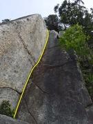 Rock Climbing Photo: Stefanie's Tears Pitch 2 Topo