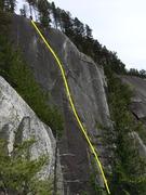 Rock Climbing Photo: High Mountain Woody Topo
