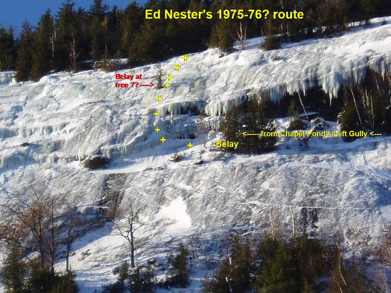 "Rock Climbing Photo: ""Ed's Route"" on upper right side of Empe..."
