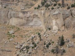 Rock Climbing Photo: Overview of the majority of the climbing from the ...