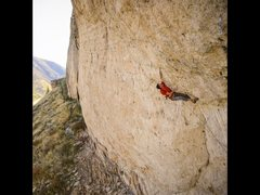 Rock Climbing Photo:  The crux entering the steep section of the route....