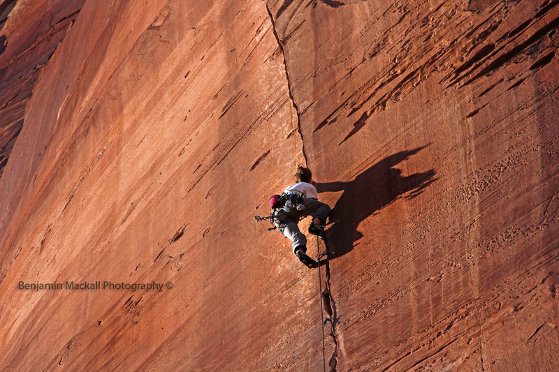 Rock Climbing Photo: Jonah on his impressive effort getting into the ea...