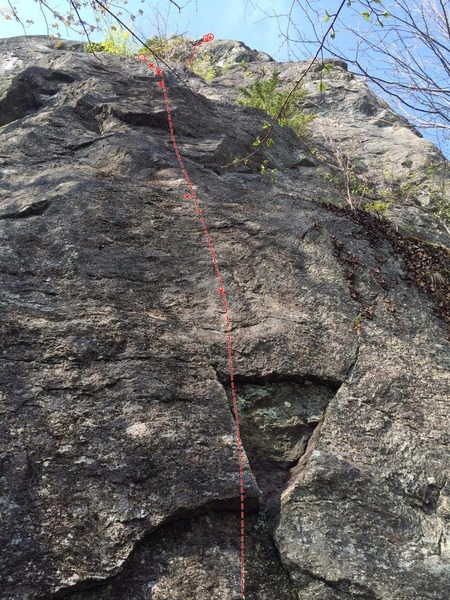 Rock Climbing Photo: The line of Maybe God's a Trad Climber.