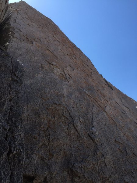 Rock Climbing Photo: Looking up at the full route.