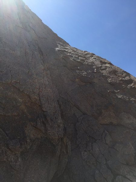 Rock Climbing Photo: Looking up at the route.