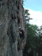 Rock Climbing Photo: Half Way Up CromagnumNBullwinkle at Crowders Mount...