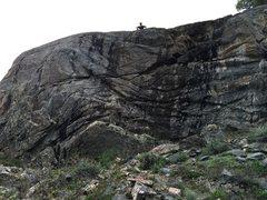 Rock Climbing Photo: Matt sitting above the route.
