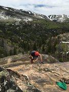 Rock Climbing Photo: Matt taking a turn on the drill.