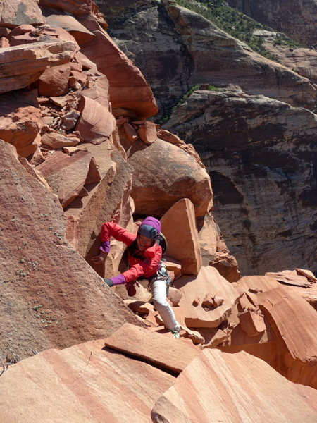 Rock Climbing Photo: the death block traverse from the top out