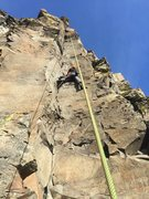 Rock Climbing Photo: Austin the Intern getting after it on Agathla Unch...
