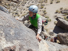 "Rock Climbing Photo: Nearing the chains on ""Chiclets."""