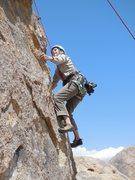 "Rock Climbing Photo: Sandy sending ""Candy Man."""