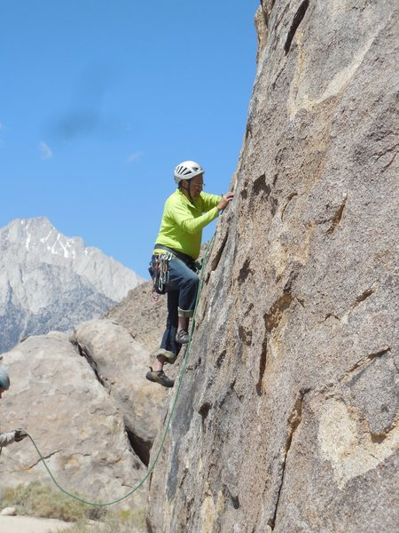 """Rock Climbing Photo: Working the edges on """"Butterfingers."""""""